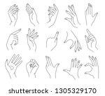 line woman hands gestures....