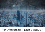 smart city and networking... | Shutterstock . vector #1305340879