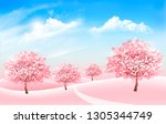 pring nature background with...   Shutterstock .eps vector #1305344749