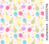 ice cream seamless pattern...   Shutterstock .eps vector #1305353746
