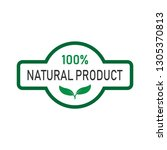 natural product label. ecology... | Shutterstock .eps vector #1305370813