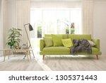 white stylish minimalist room... | Shutterstock . vector #1305371443