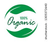 organic product label. ecology... | Shutterstock .eps vector #1305372640