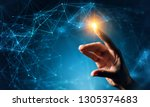connection technologies... | Shutterstock . vector #1305374683