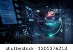 technology and hud concept....   Shutterstock . vector #1305376213