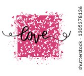 vector romantic cards with... | Shutterstock .eps vector #1305378136