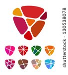 design shield or heart logo... | Shutterstock .eps vector #130538078