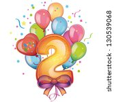 balloons on the second birthday | Shutterstock .eps vector #130539068