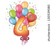 balloons on the fourth day of... | Shutterstock .eps vector #130539080