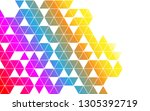 abstract triangle hexagon shape ... | Shutterstock .eps vector #1305392719