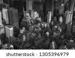 a bird's eye aerial cityscape... | Shutterstock . vector #1305396979