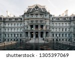 the eisenhower executive office ... | Shutterstock . vector #1305397069
