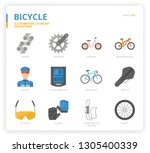 bicycle icon for website ... | Shutterstock .eps vector #1305400339