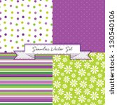 vector set of 4 retro... | Shutterstock .eps vector #130540106