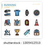 running icon set icon set | Shutterstock .eps vector #1305412513