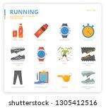running icon set icon set | Shutterstock .eps vector #1305412516