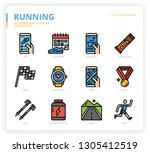 running icon set icon set | Shutterstock .eps vector #1305412519