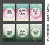 editable colorful pastel...   Shutterstock .eps vector #1305413980