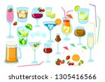 set of coctails. classic... | Shutterstock .eps vector #1305416566
