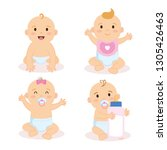 group of babies characters | Shutterstock .eps vector #1305426463