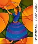 vector design of woman... | Shutterstock .eps vector #1305426580