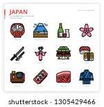 japan icon set | Shutterstock .eps vector #1305429466