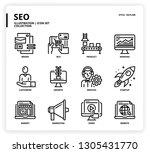 seo icon set | Shutterstock .eps vector #1305431770