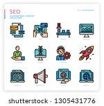 seo icon set | Shutterstock .eps vector #1305431776