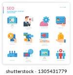 seo icon set | Shutterstock .eps vector #1305431779
