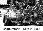 espresso shot from coffee... | Shutterstock . vector #1305440800
