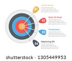 target with four arrows with... | Shutterstock .eps vector #1305449953