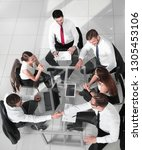 group of business people in a... | Shutterstock . vector #1305453106