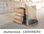 Pile Of Cement In Bags  Stacked ...