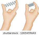 physics hand gestures  metal... | Shutterstock .eps vector #1305459643