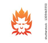 simple lion fire vector icon... | Shutterstock .eps vector #1305465553