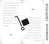 handcart vector icon   Shutterstock .eps vector #1305473110