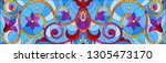 illustration in stained glass... | Shutterstock .eps vector #1305473170