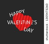 happy valentines day greeting... | Shutterstock . vector #1305473260
