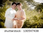 the portrait of thai bride and...   Shutterstock . vector #130547438