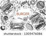 vector design with graphic... | Shutterstock .eps vector #1305476086