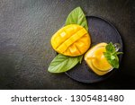 refreshing and healthy mango... | Shutterstock . vector #1305481480