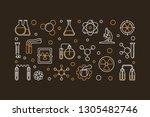 chemistry of radioactive... | Shutterstock .eps vector #1305482746