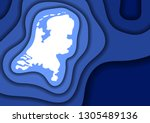 netherlands map abstract... | Shutterstock .eps vector #1305489136