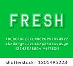 modern 3d alphabet  bright... | Shutterstock .eps vector #1305495223