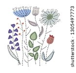 Hand Drawn Embroidery Pattern...