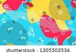 pop art color background.... | Shutterstock .eps vector #1305503536