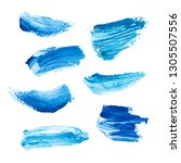 blue hand painted elements for... | Shutterstock . vector #1305507556