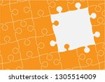 pieces puzzle background ...   Shutterstock .eps vector #1305514009