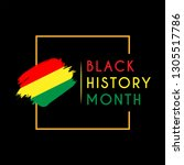 black history month design... | Shutterstock .eps vector #1305517786