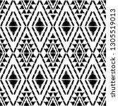 ethnic boho seamless pattern.... | Shutterstock .eps vector #1305519013